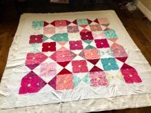 My flower glass quilt!