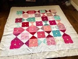 My flower glass quilt!